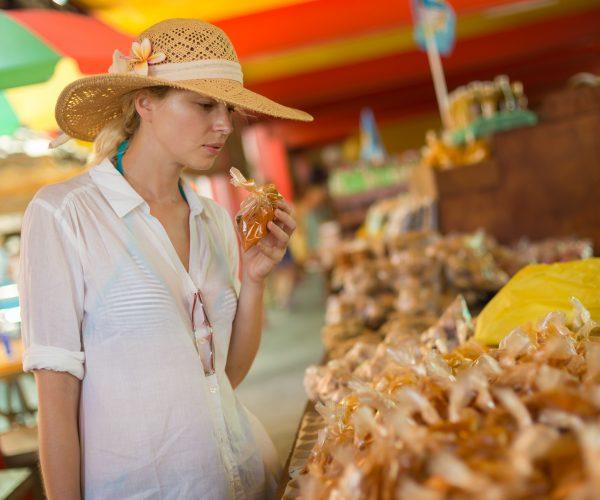 Victoria food market, Seychelles.